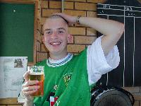 Me after the sponsored headshave, 11/09/99